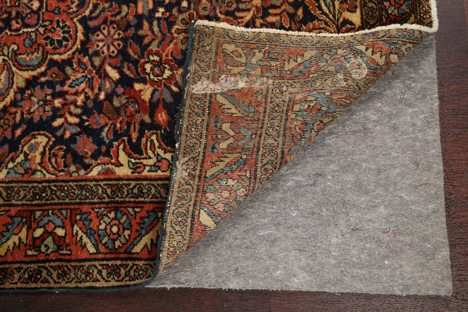 Antique Vegetable Dye Malayer Persian Area Rug 5x6 image 7