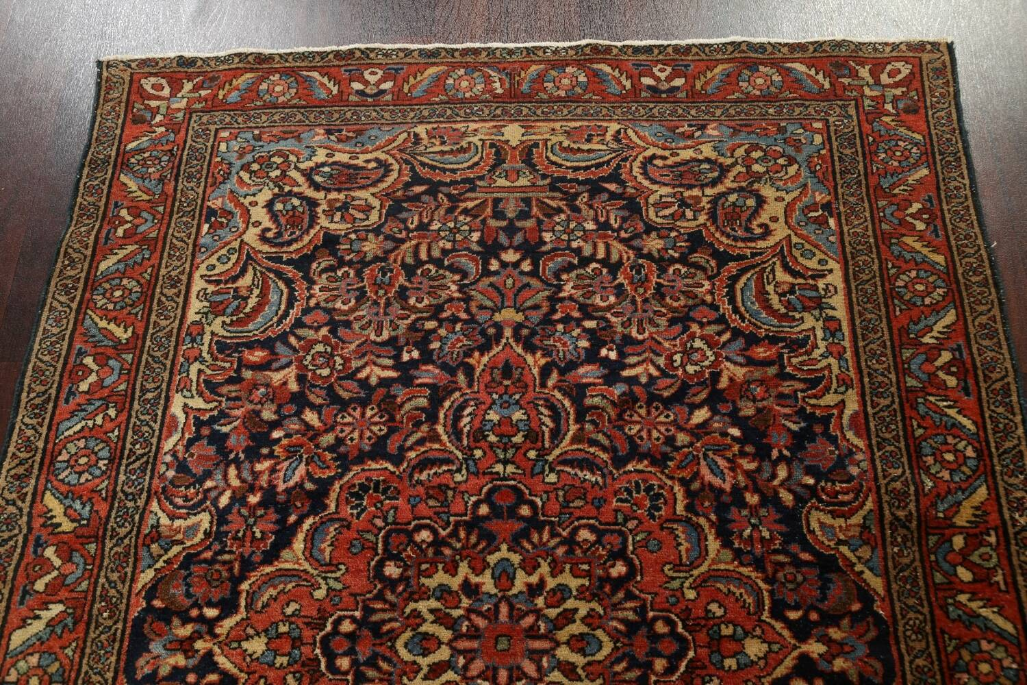 Antique Vegetable Dye Malayer Persian Area Rug 5x6 image 9