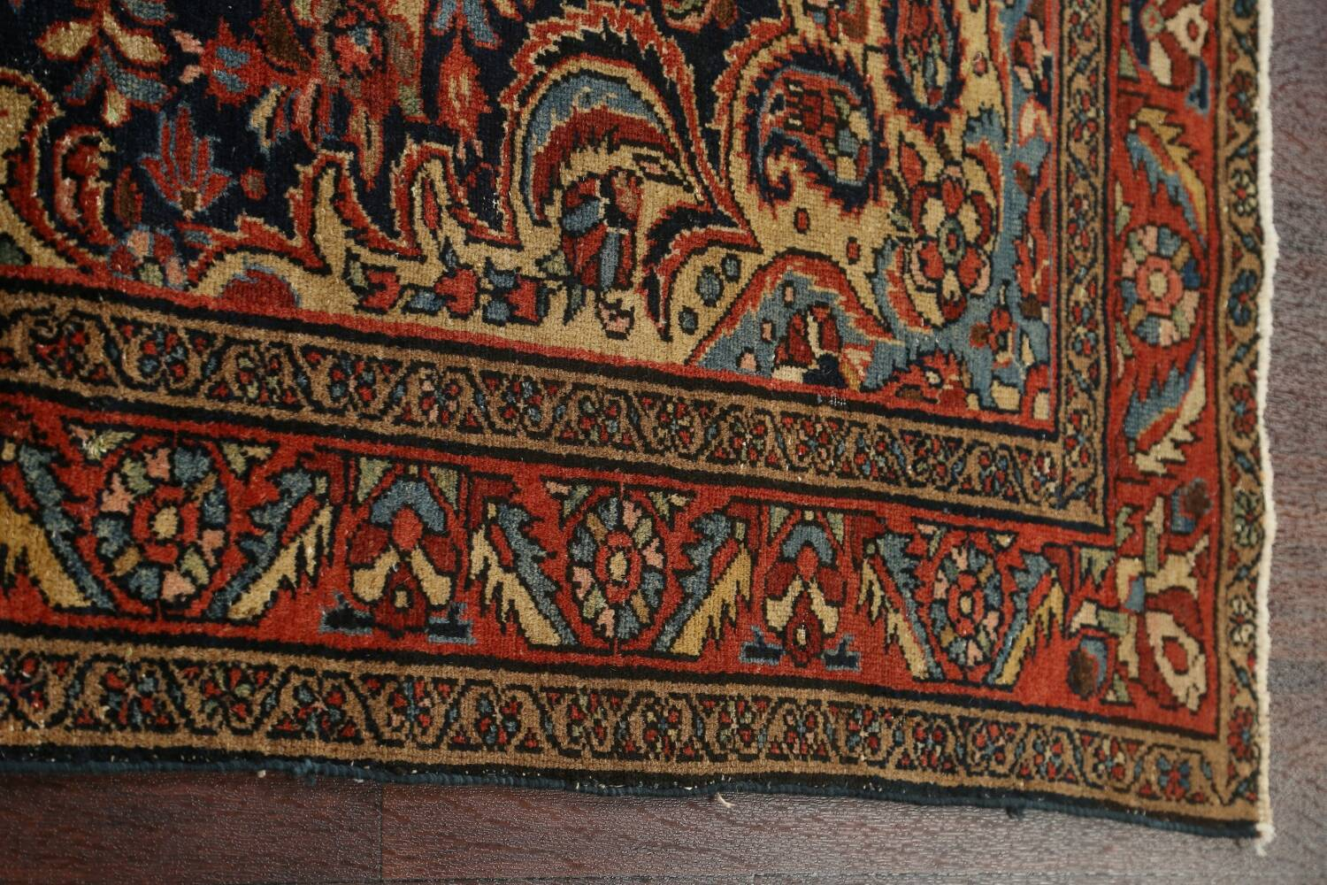 Antique Vegetable Dye Malayer Persian Area Rug 5x6 image 10