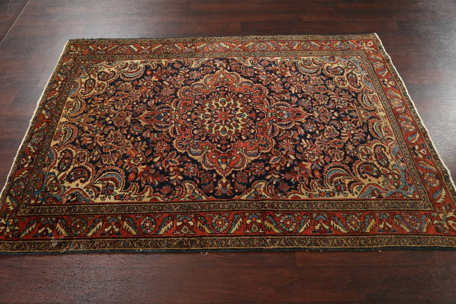 Antique Vegetable Dye Malayer Persian Area Rug 5x6 image 12
