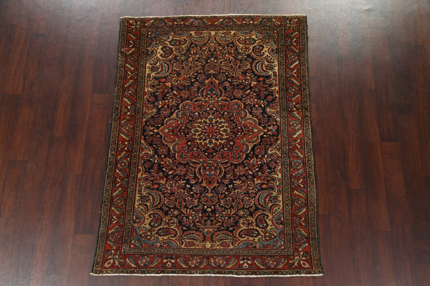 Antique Vegetable Dye Malayer Persian Area Rug 5x6 image 13