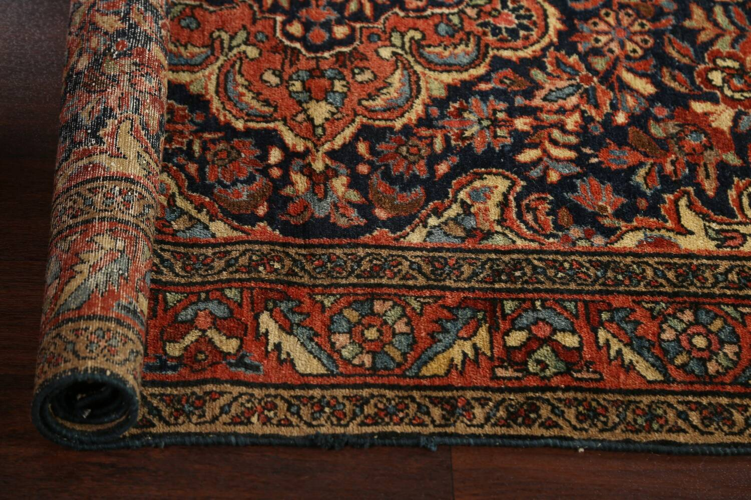 Antique Vegetable Dye Malayer Persian Area Rug 5x6 image 14