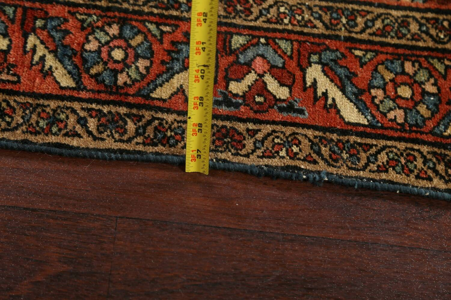 Antique Vegetable Dye Malayer Persian Area Rug 5x6 image 15