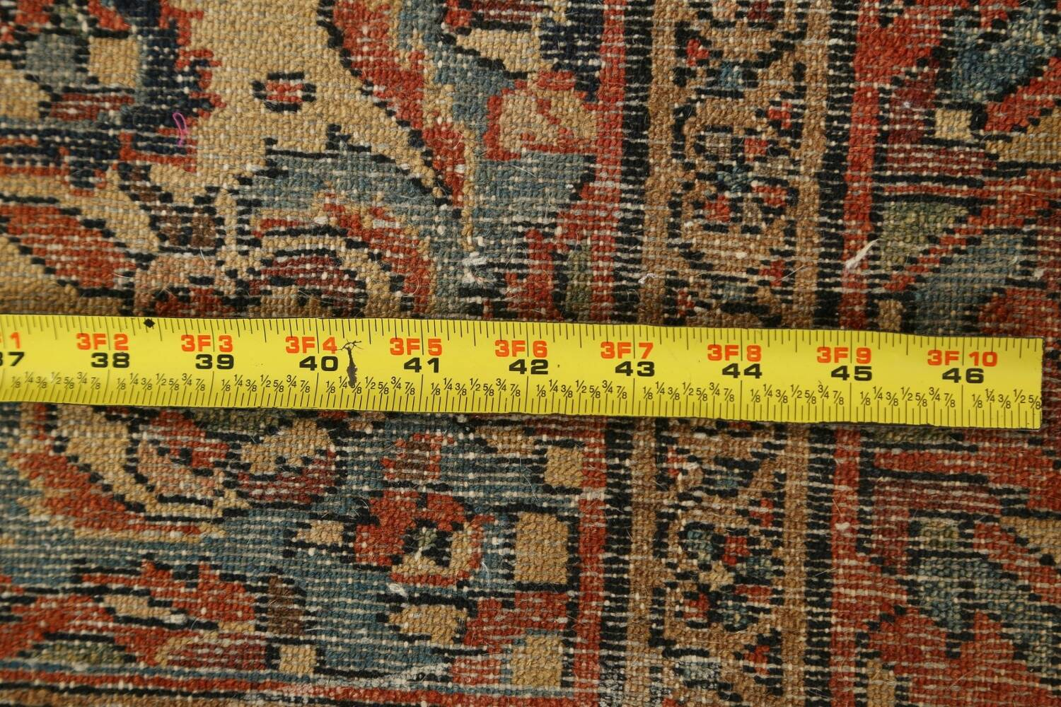 Antique Vegetable Dye Malayer Persian Area Rug 5x6 image 16