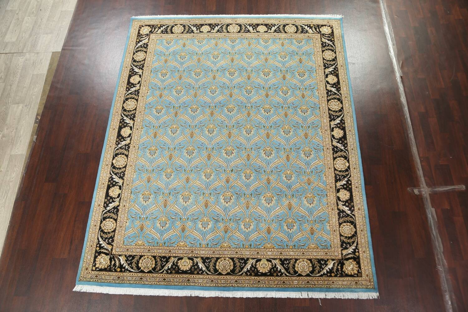 Vegetable Dye Aubusson Hand-Knotted Area Rug 8x10 image 2