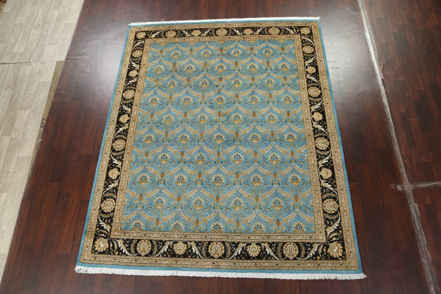 Vegetable Dye Aubusson Hand-Knotted Area Rug 8x10 image 13