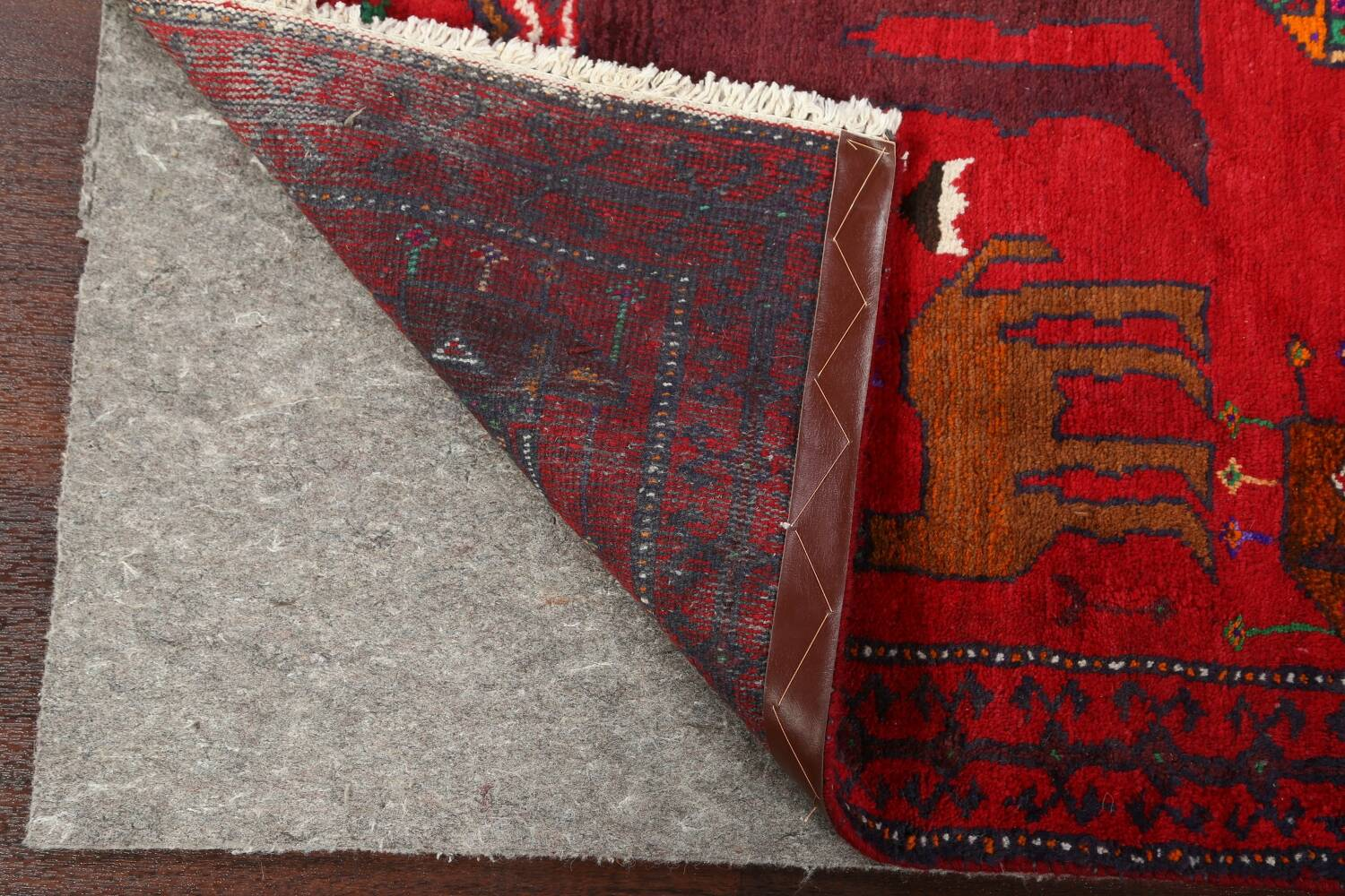 Animal Pictorial Balouch Persian Area Rug 4x8 image 7