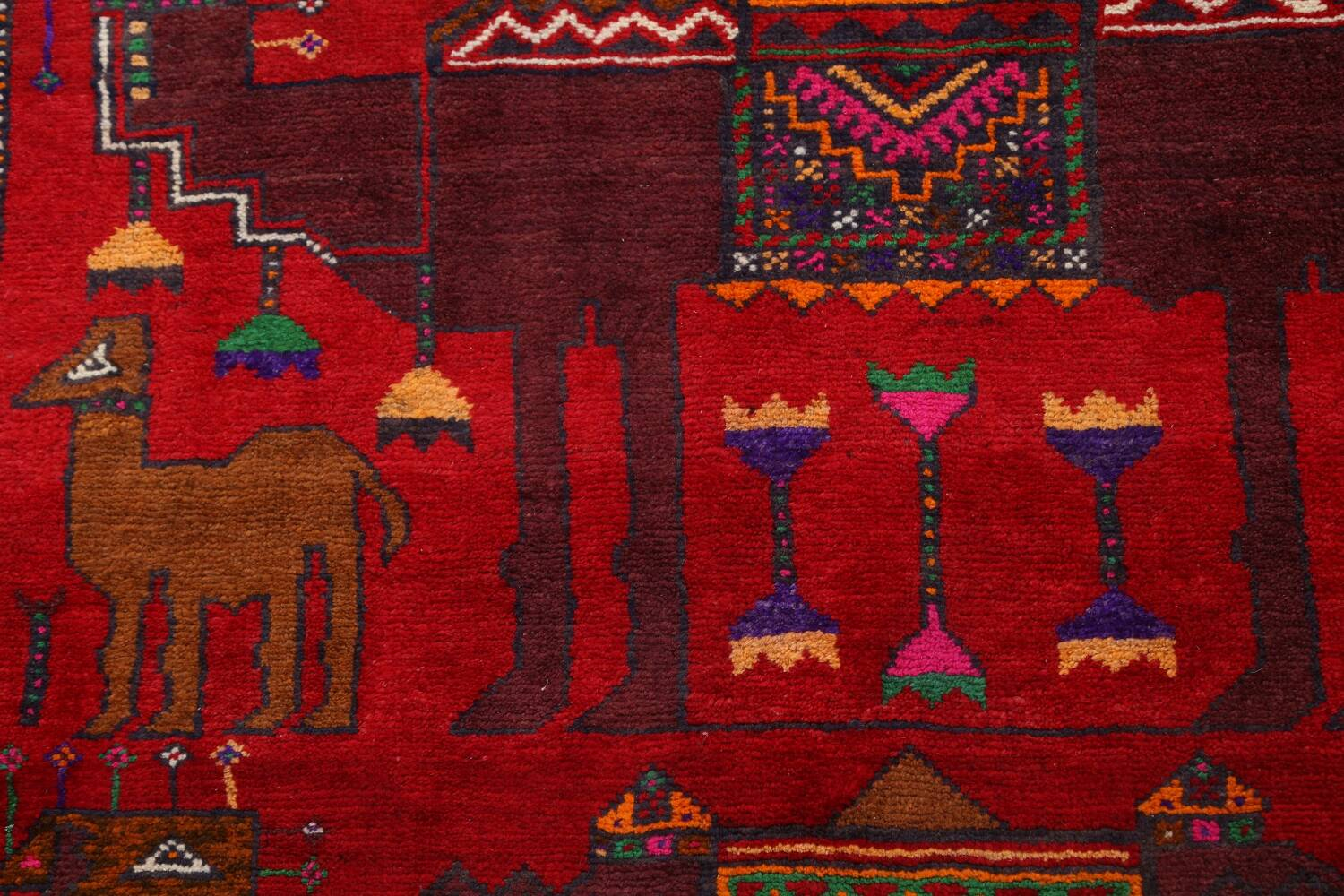 Animal Pictorial Balouch Persian Area Rug 4x8 image 9