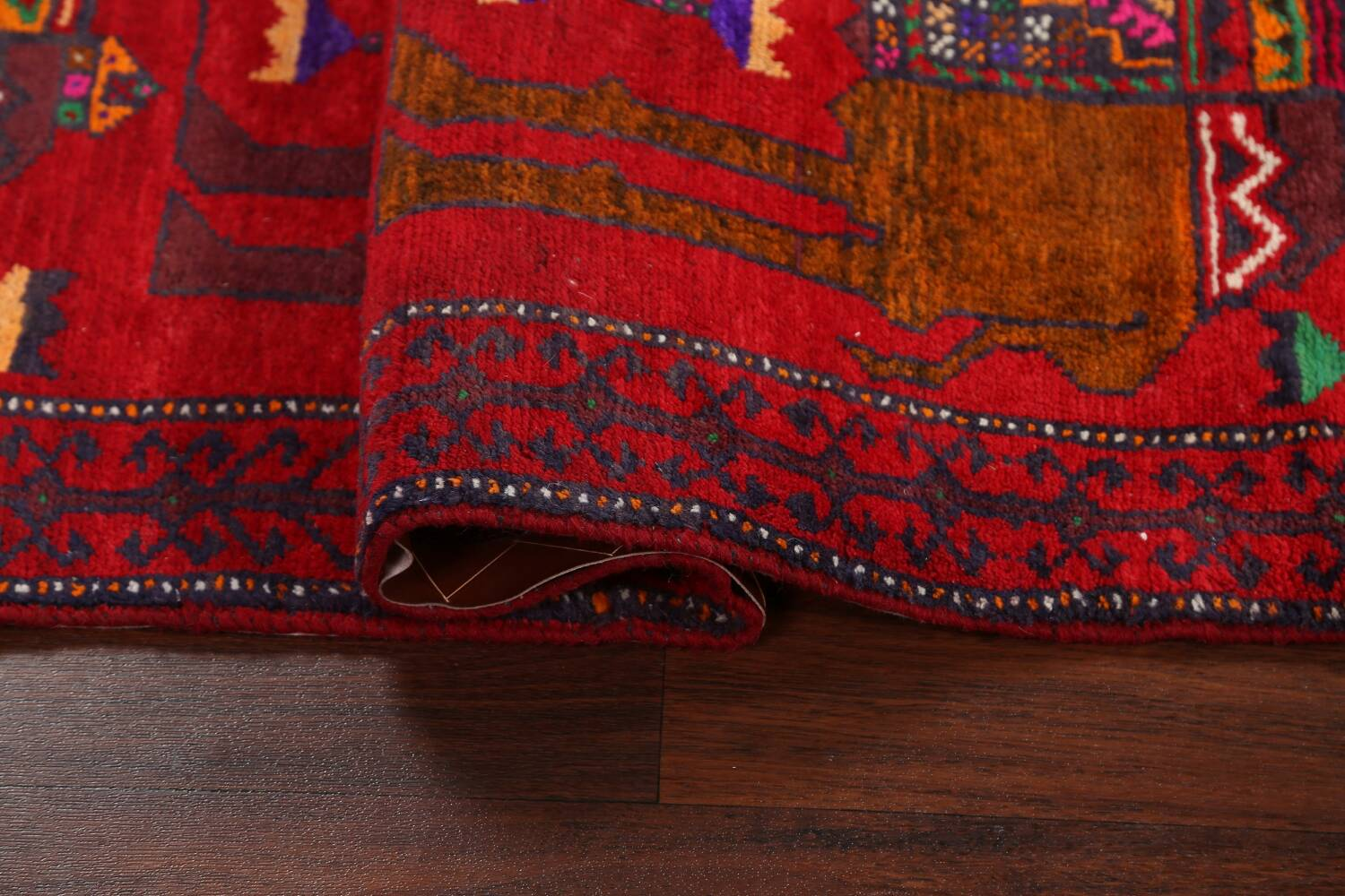 Animal Pictorial Balouch Persian Area Rug 4x8 image 12