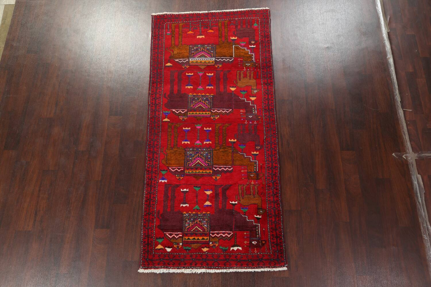 Animal Pictorial Balouch Persian Area Rug 4x8 image 14
