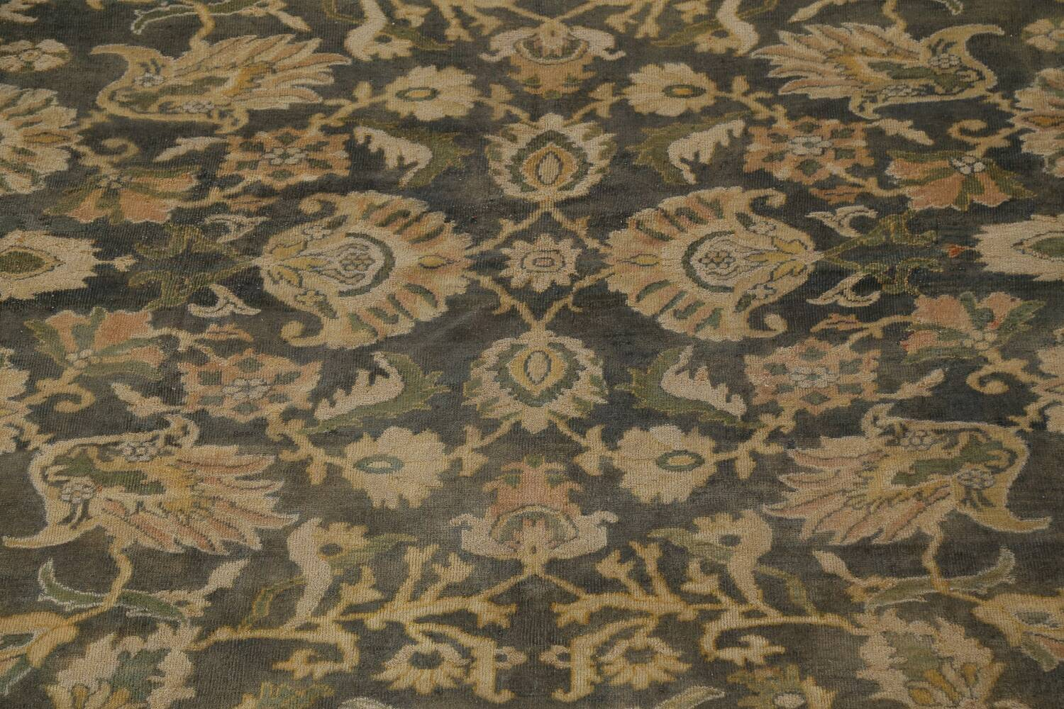 Pre-1900 Antique Vegetable Dye Sultanabad Persian Rug 12x16 image 4