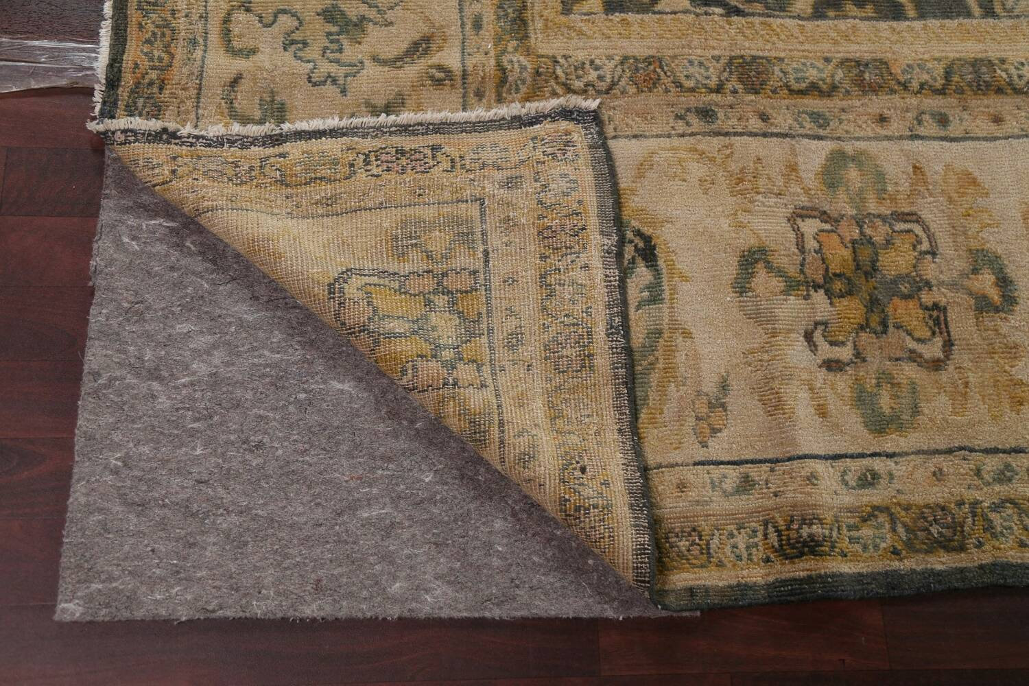 Pre-1900 Antique Vegetable Dye Sultanabad Persian Rug 12x16 image 7
