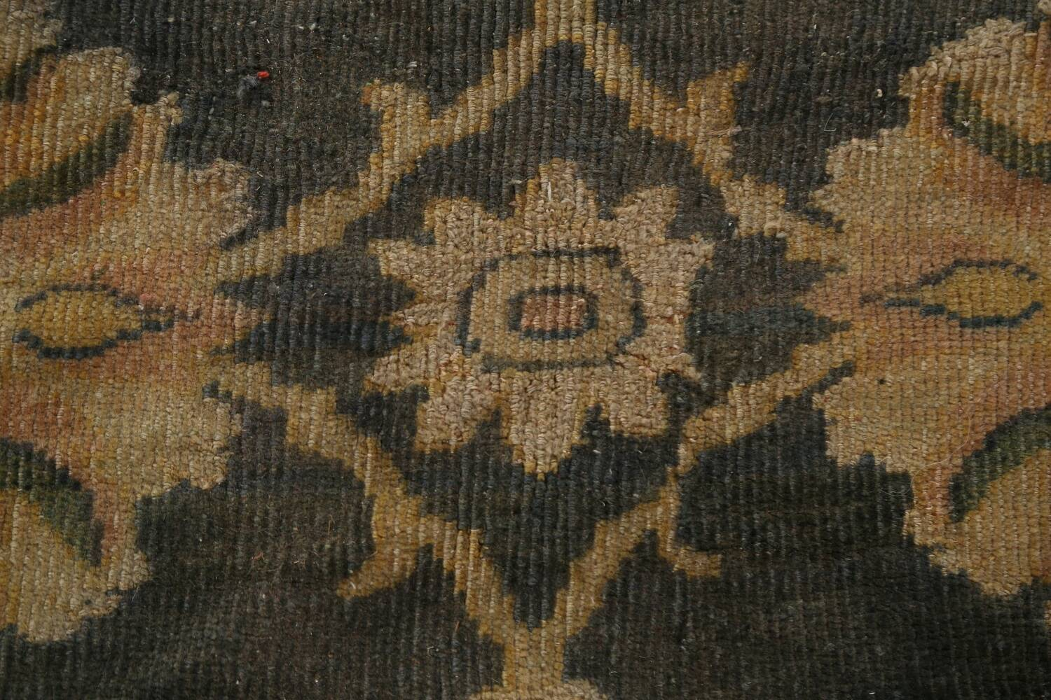 Pre-1900 Antique Vegetable Dye Sultanabad Persian Rug 12x16 image 9