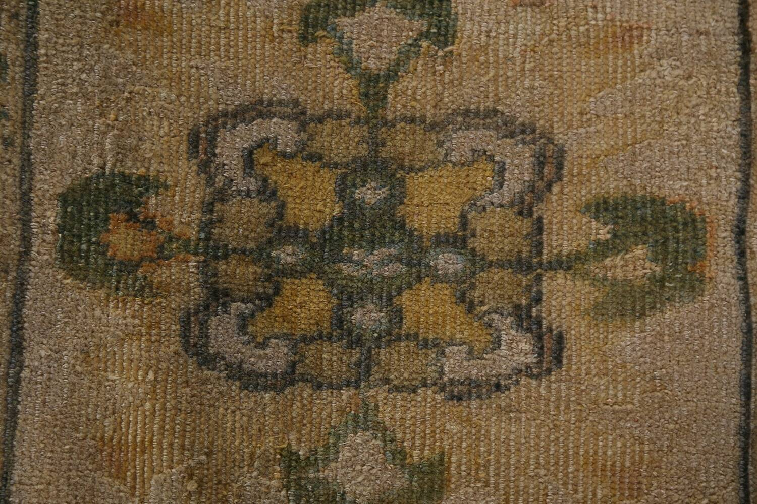 Pre-1900 Antique Vegetable Dye Sultanabad Persian Rug 12x16 image 11