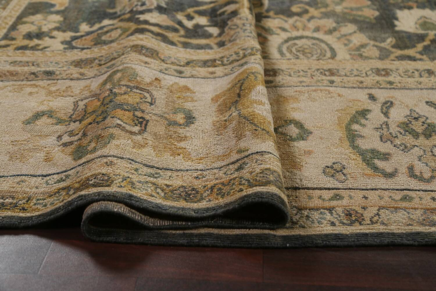 Pre-1900 Antique Vegetable Dye Sultanabad Persian Rug 12x16 image 12