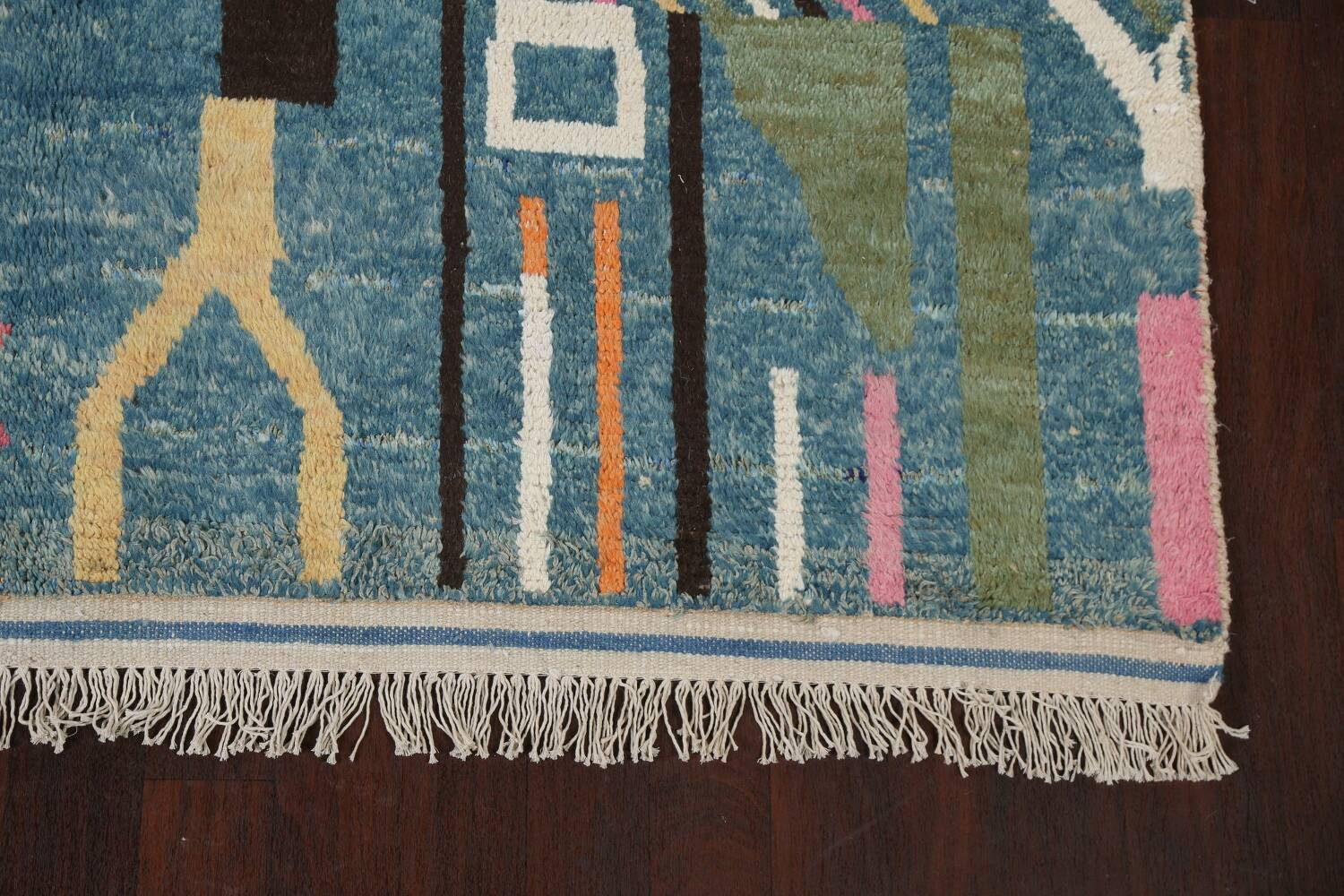 Wool Moroccan Abstract Area Rug 8x11 image 7