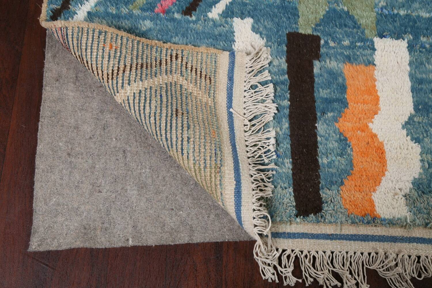 Wool Moroccan Abstract Area Rug 8x11 image 8