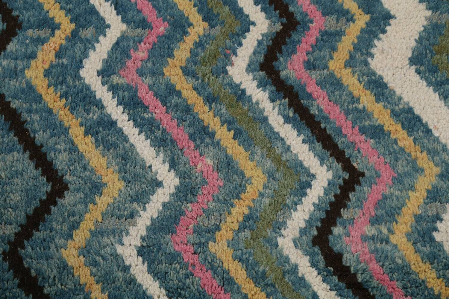 Wool Moroccan Abstract Area Rug 8x11 image 10