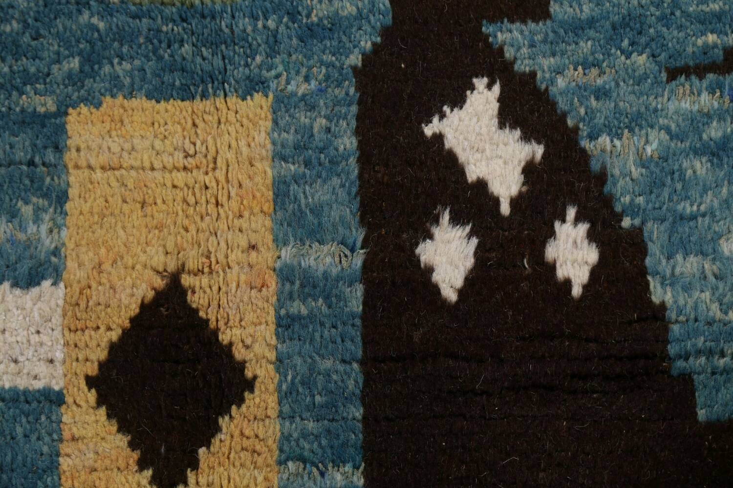 Wool Moroccan Abstract Area Rug 8x11 image 11