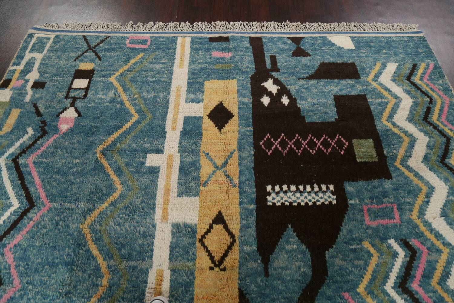 Wool Moroccan Abstract Area Rug 8x11 image 13