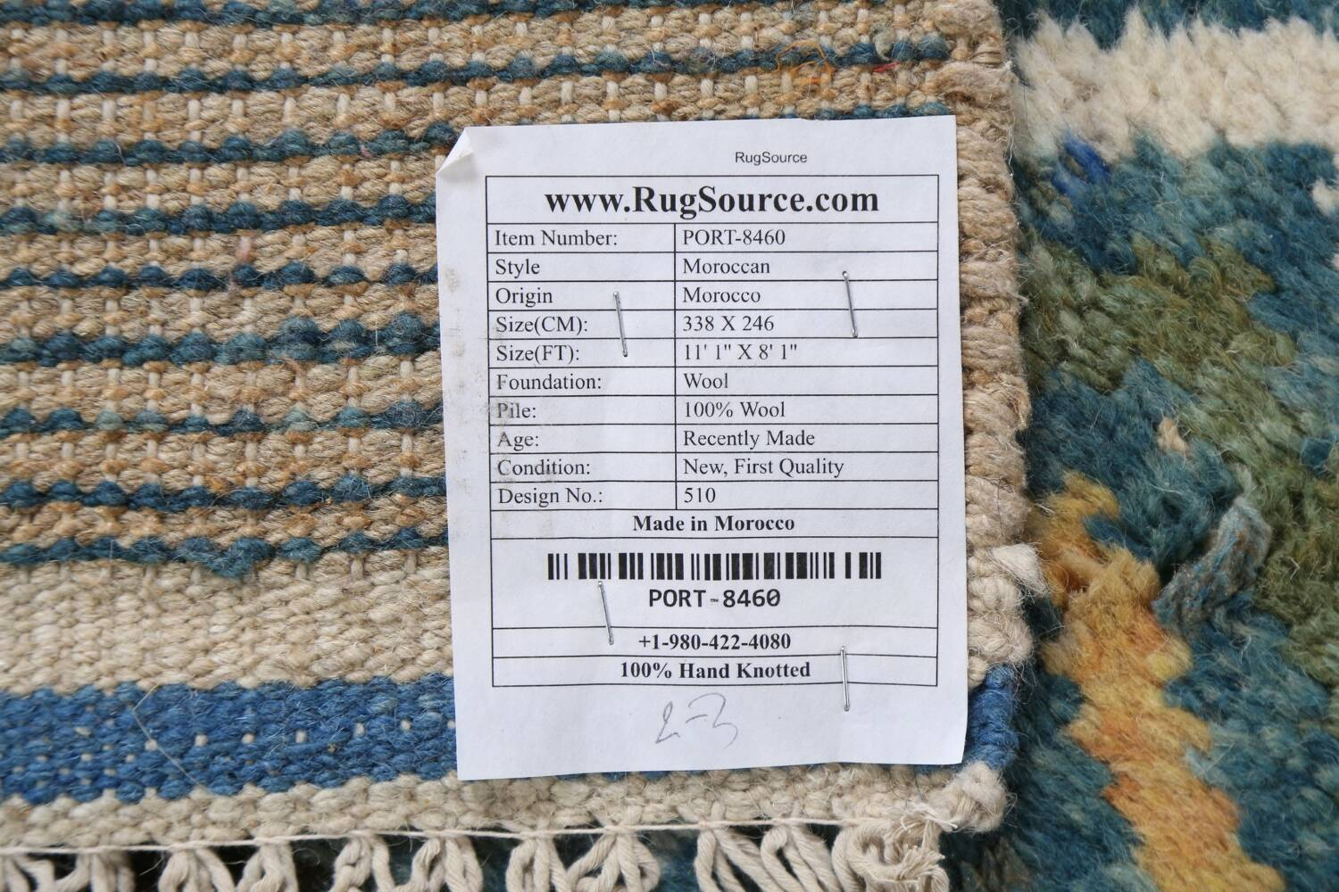 Wool Moroccan Abstract Area Rug 8x11 image 22