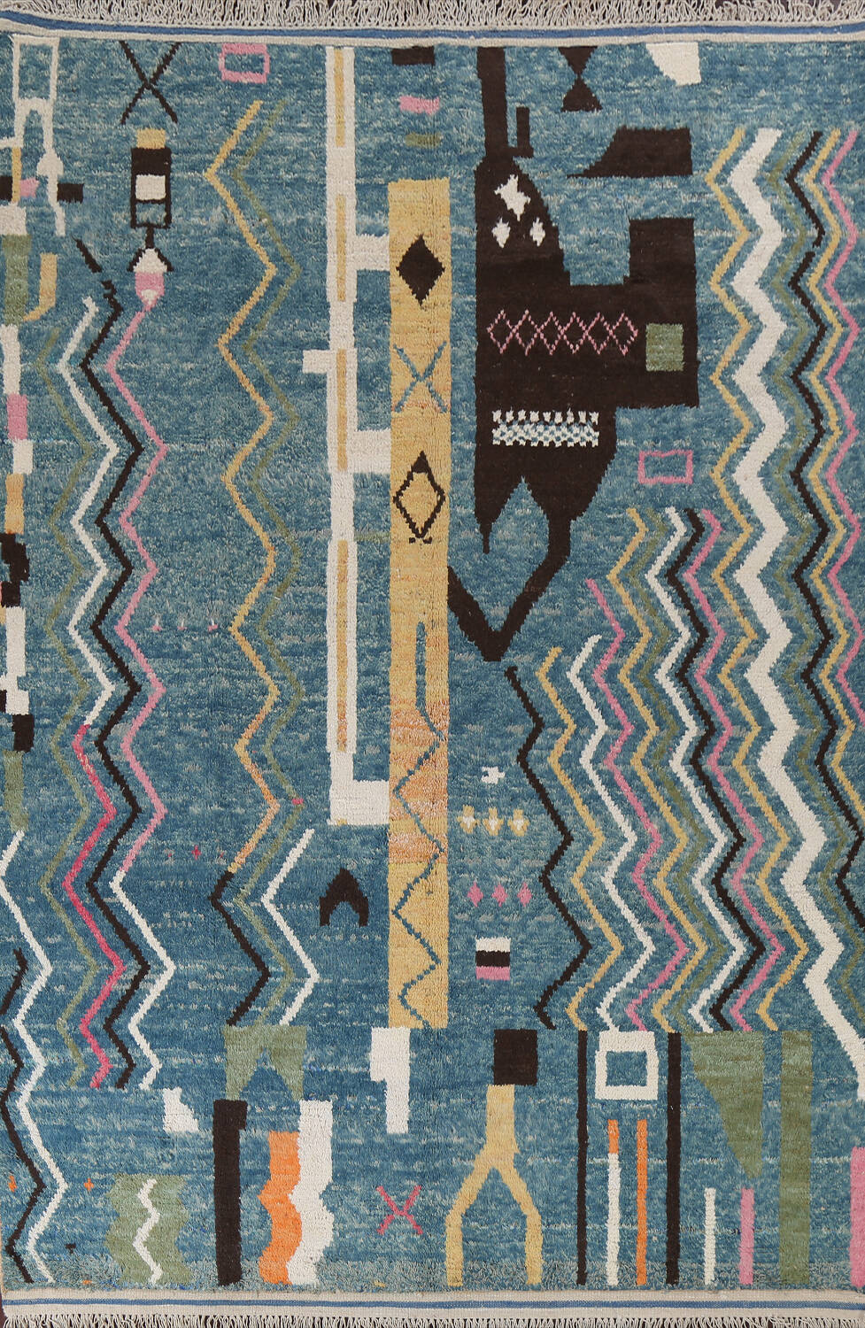 Wool Moroccan Abstract Area Rug 8x11 image 1
