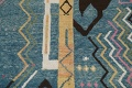 Wool Moroccan Abstract Area Rug 8x11 image 5