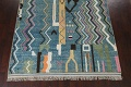 Wool Moroccan Abstract Area Rug 8x11 image 6