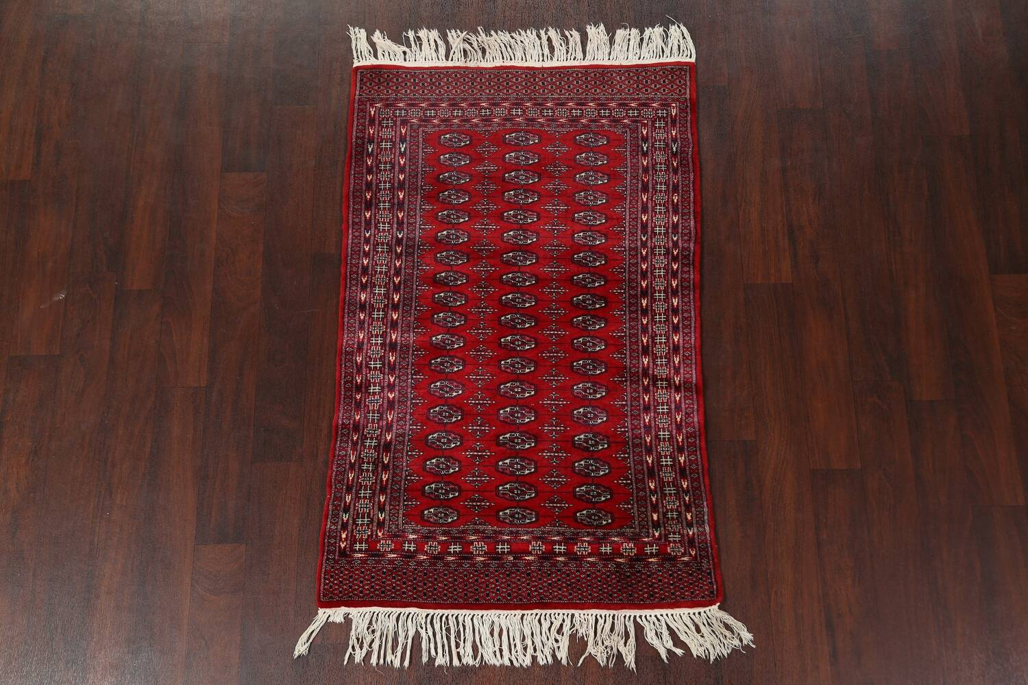Red Bokhara Wool Area Rug 3x5 image 2