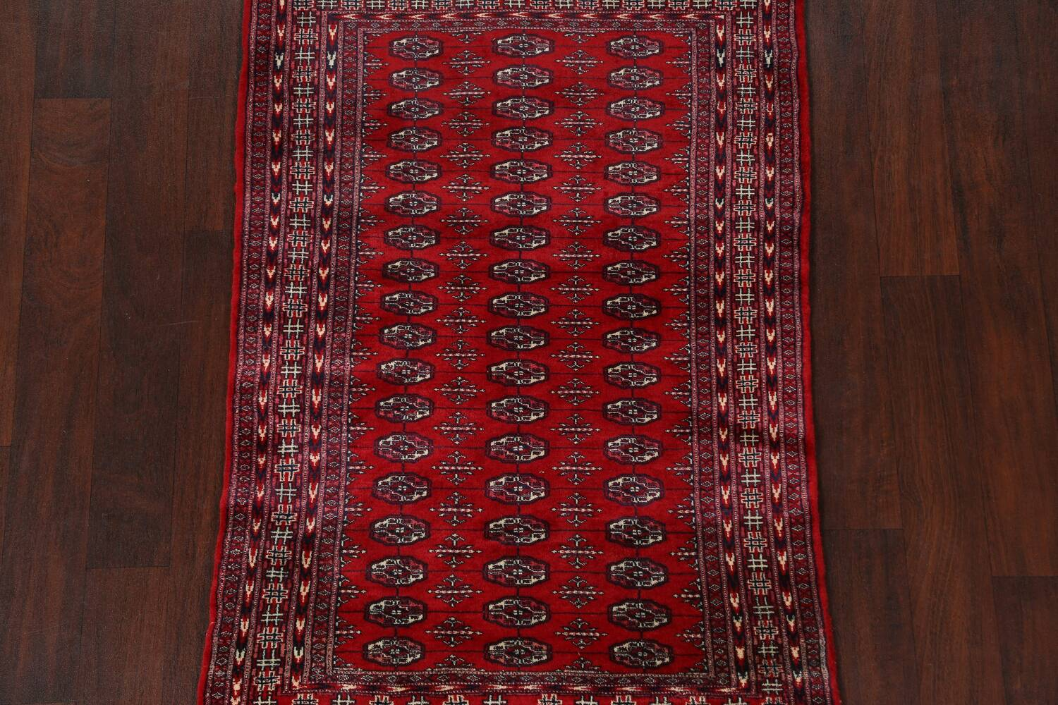 Red Bokhara Wool Area Rug 3x5 image 3