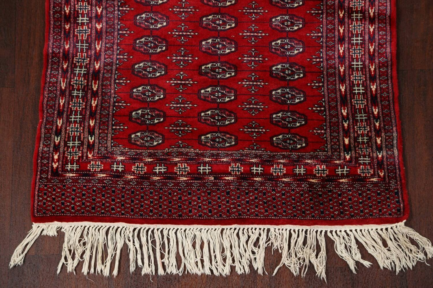Red Bokhara Wool Area Rug 3x5 image 5