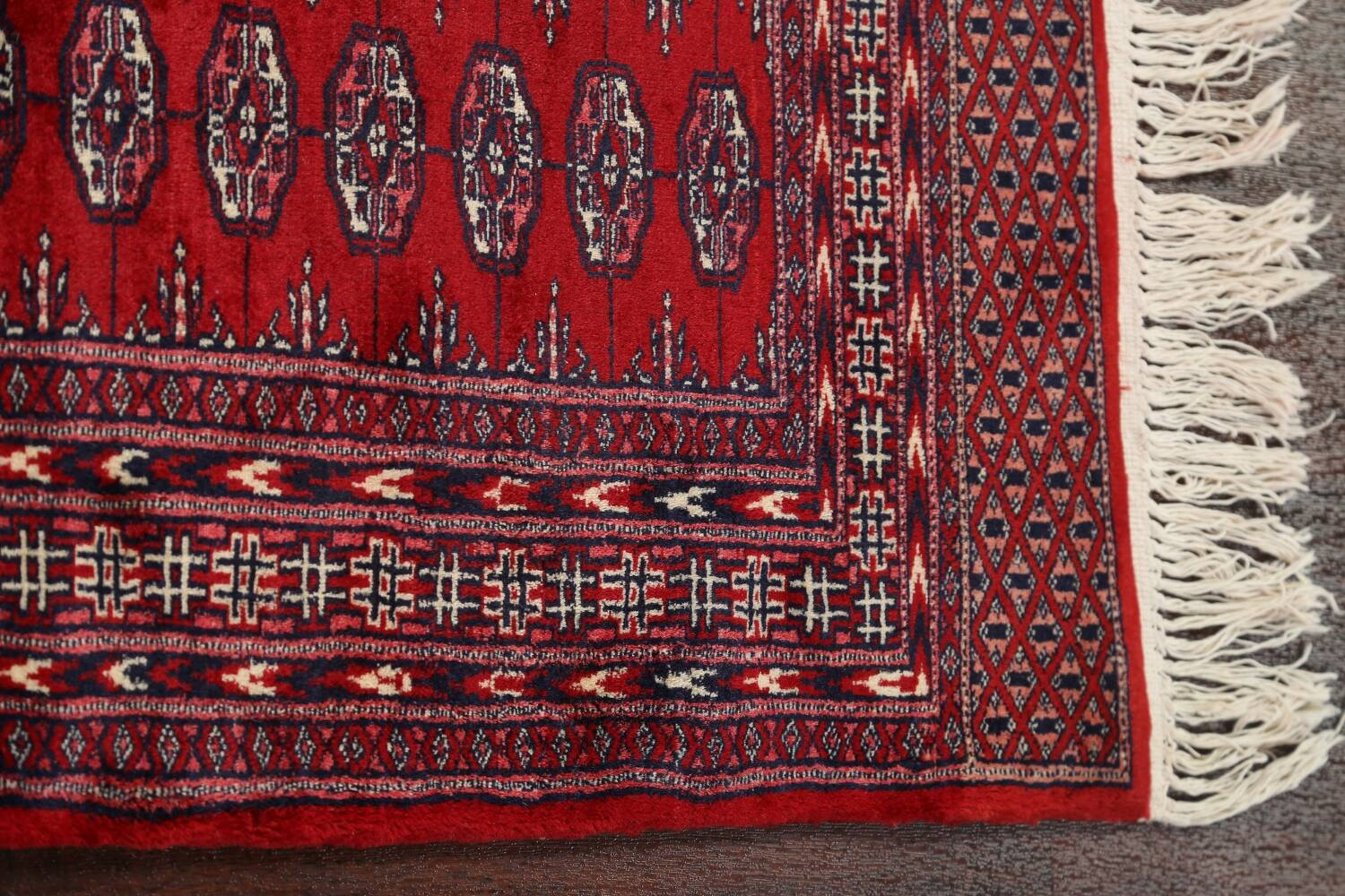 Red Bokhara Wool Area Rug 3x5 image 9