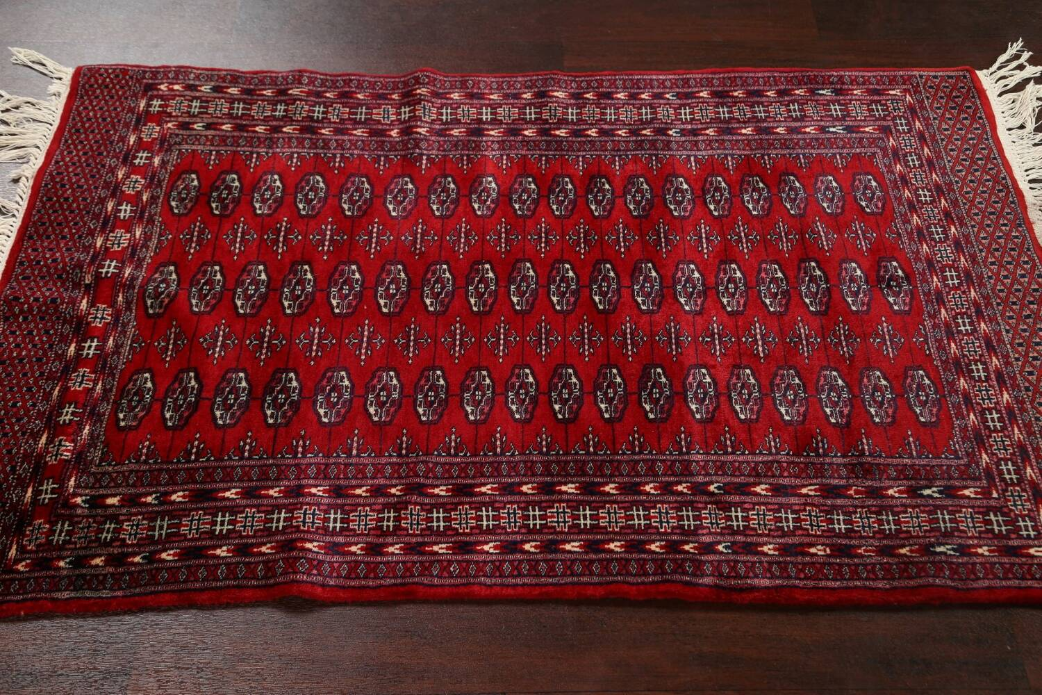 Red Bokhara Wool Area Rug 3x5 image 10