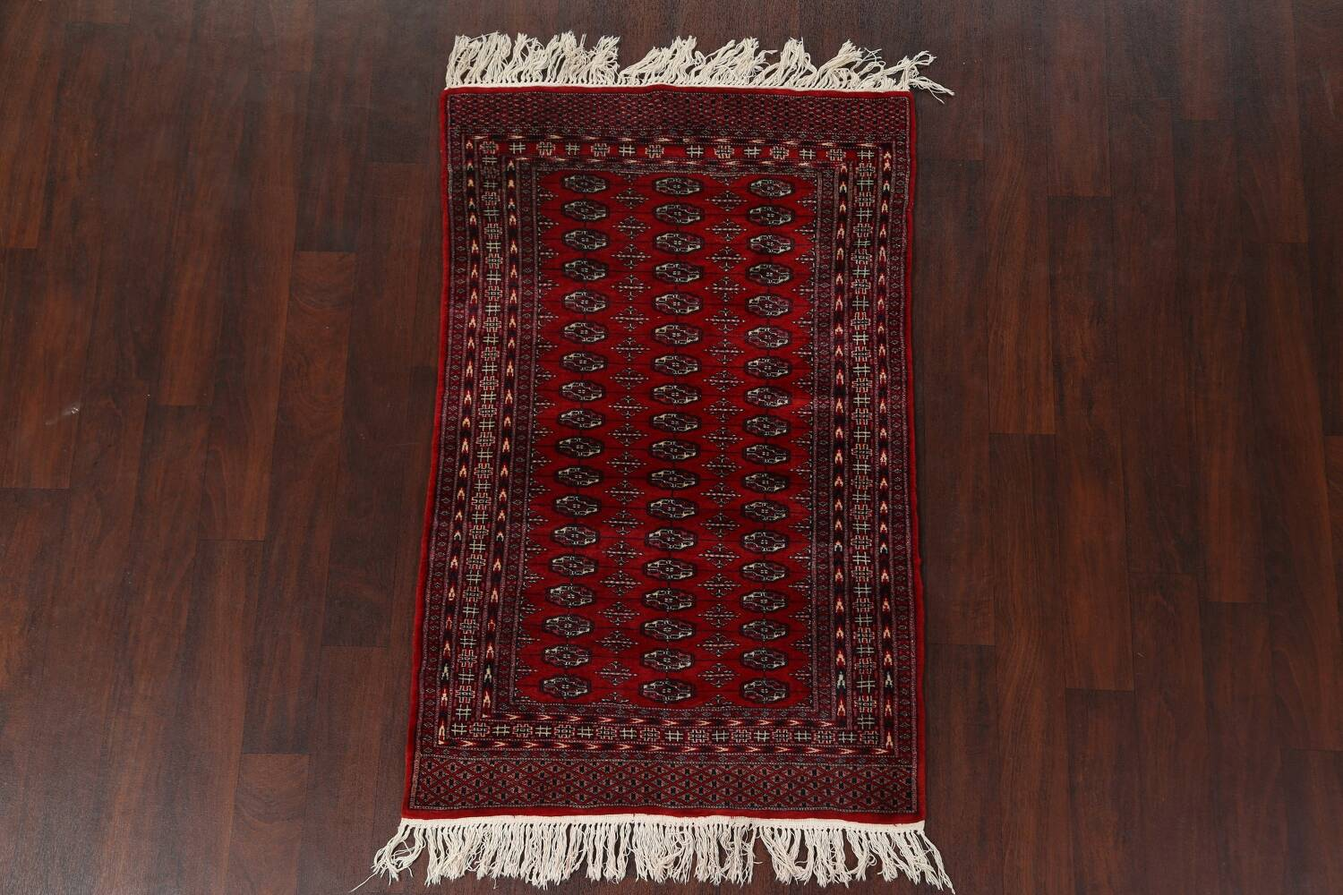 Red Bokhara Wool Area Rug 3x5 image 11