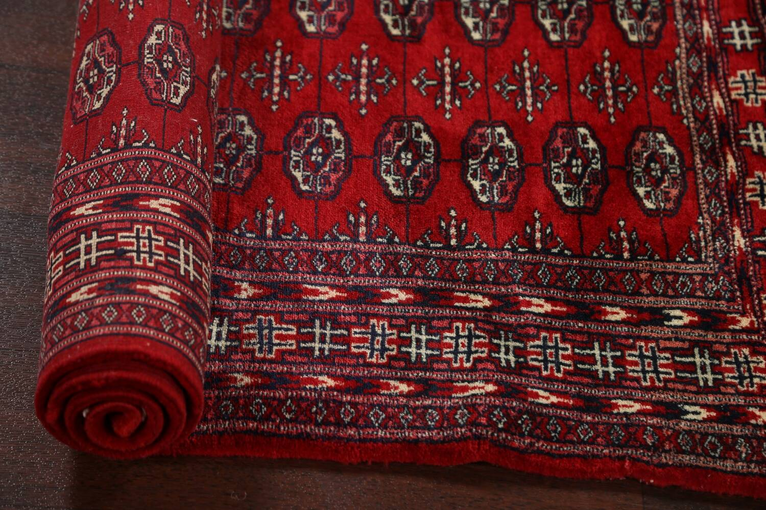 Red Bokhara Wool Area Rug 3x5 image 12