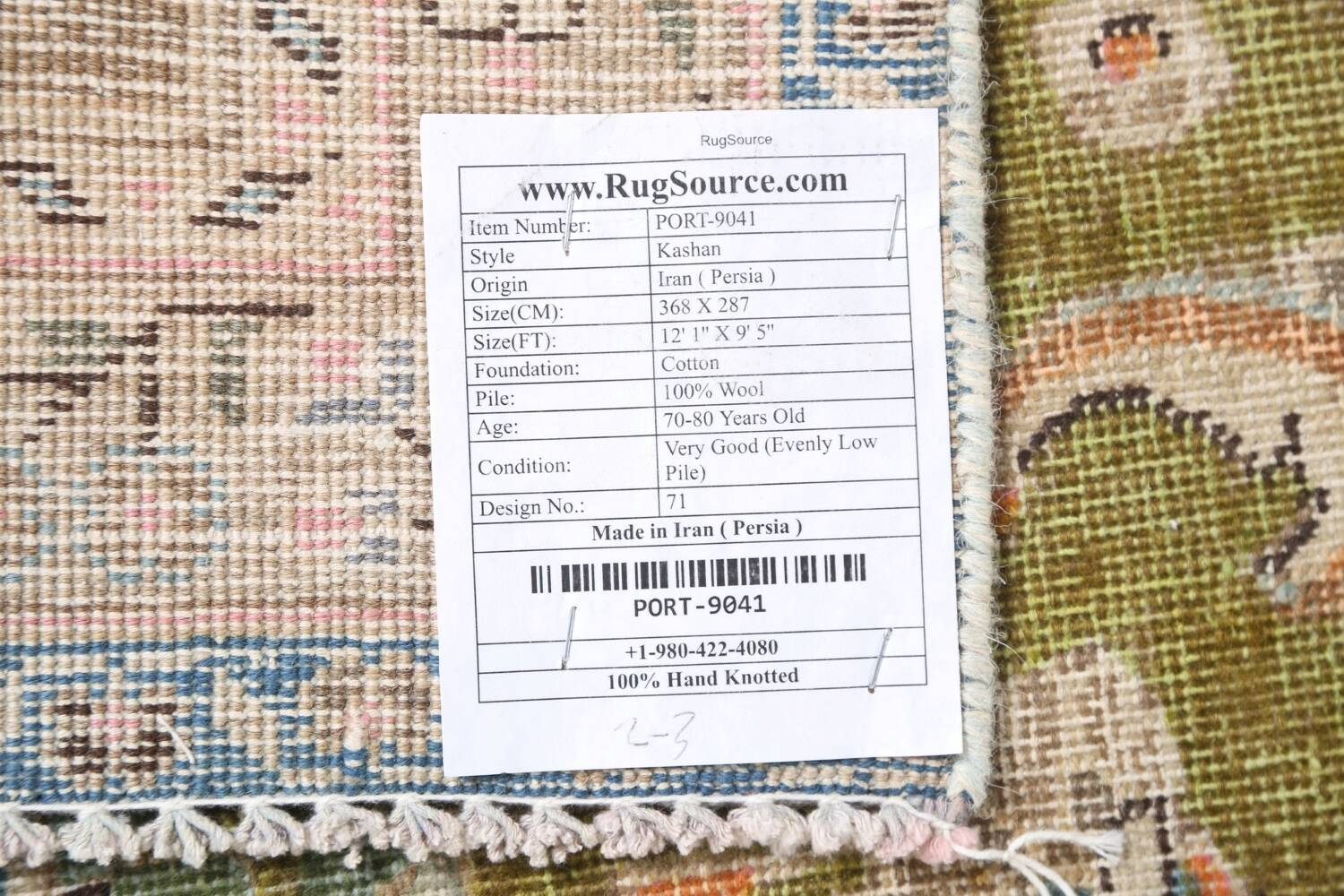 Antique Distressed Over-Dye Kashan Persian Area Rug 9x12 image 22