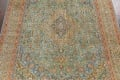 Antique Distressed Over-Dye Kashan Persian Area Rug 9x12 image 4