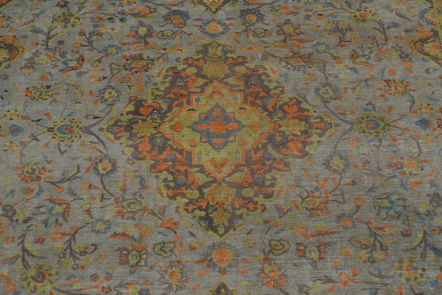Distressed Over-Dye Kashan Persian Area Rug 9x12 image 5