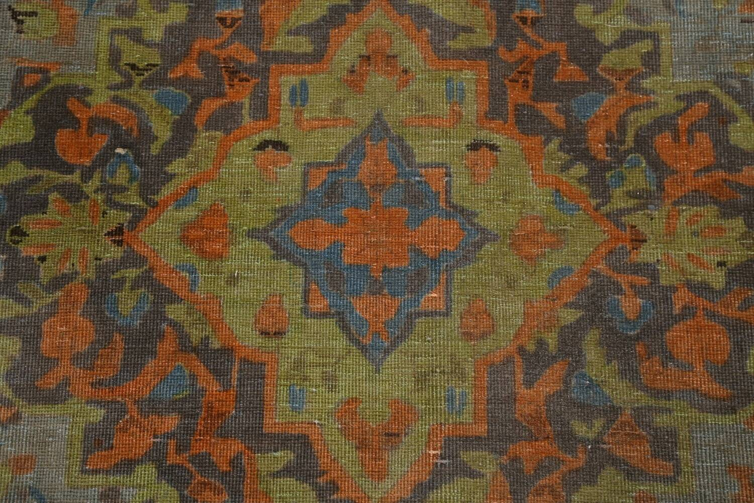 Distressed Over-Dye Kashan Persian Area Rug 9x12 image 9