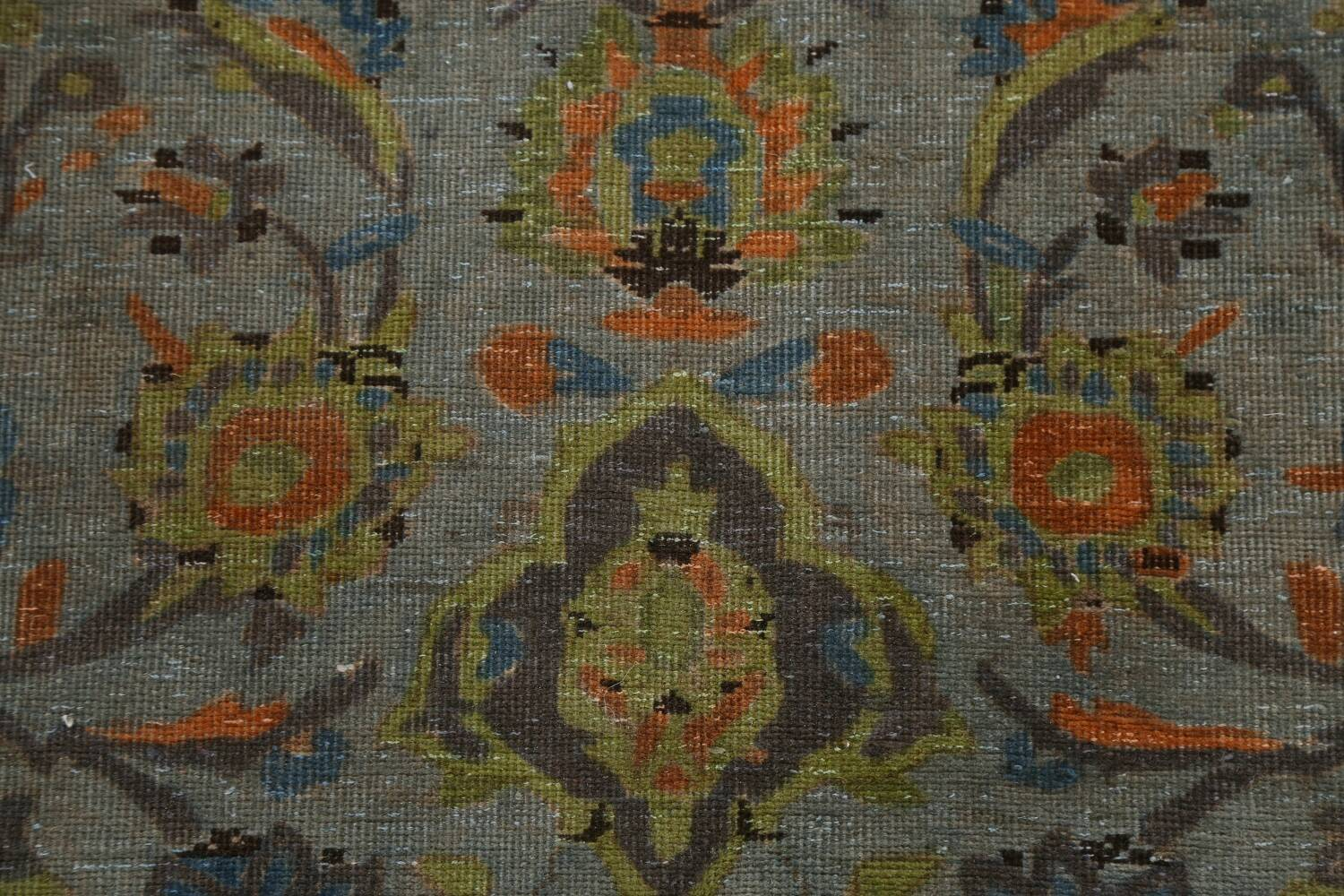 Distressed Over-Dye Kashan Persian Area Rug 9x12 image 10