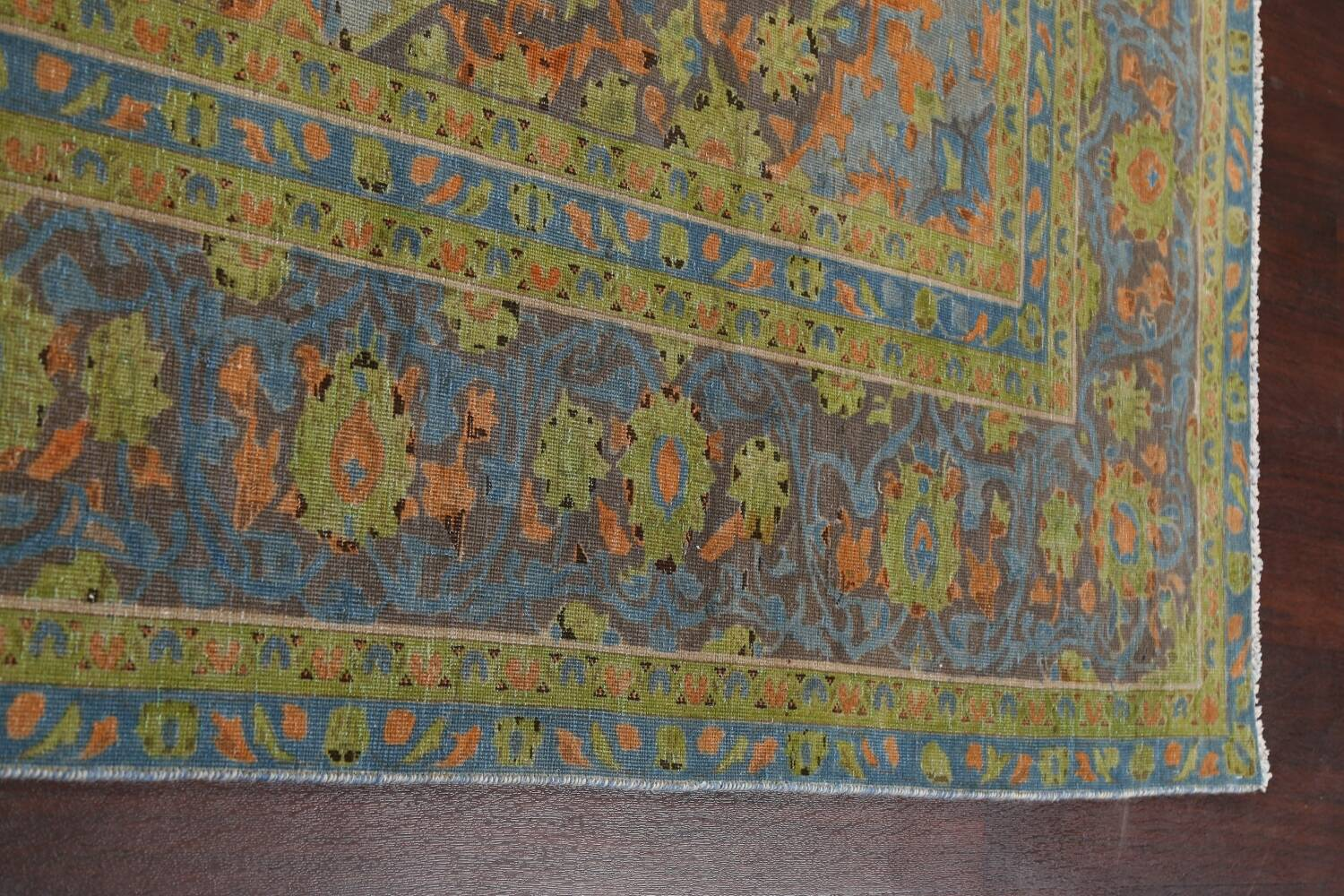 Distressed Over-Dye Kashan Persian Area Rug 9x12 image 14