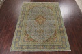 Distressed Over-Dye Kashan Persian Area Rug 9x12 image 3