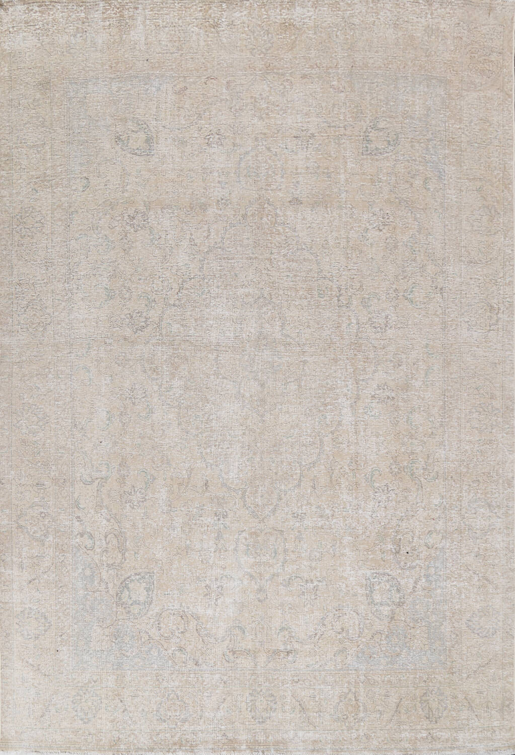 Antique Muted Distressed Tabriz Persian Area Rug 9x12 image 1