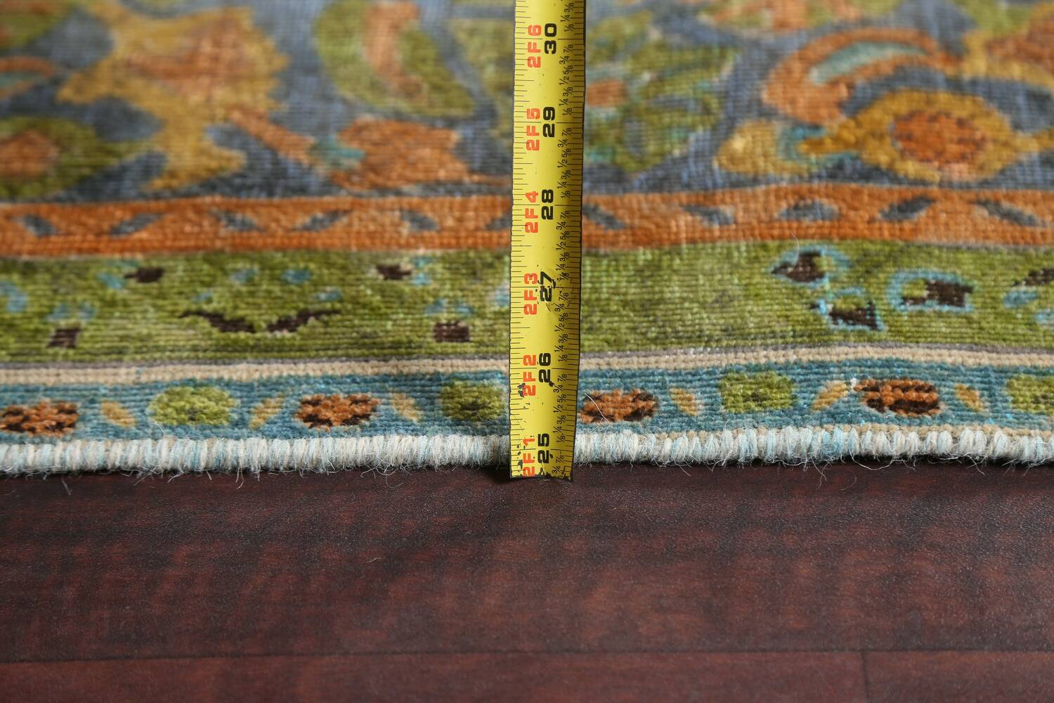 Antique Distressed Over-Dye Tabriz Persian Area Rug 9x12 image 20