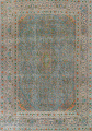 Antique Distressed Over-Dye Kashan Persian Area Rug 9x12 image 1