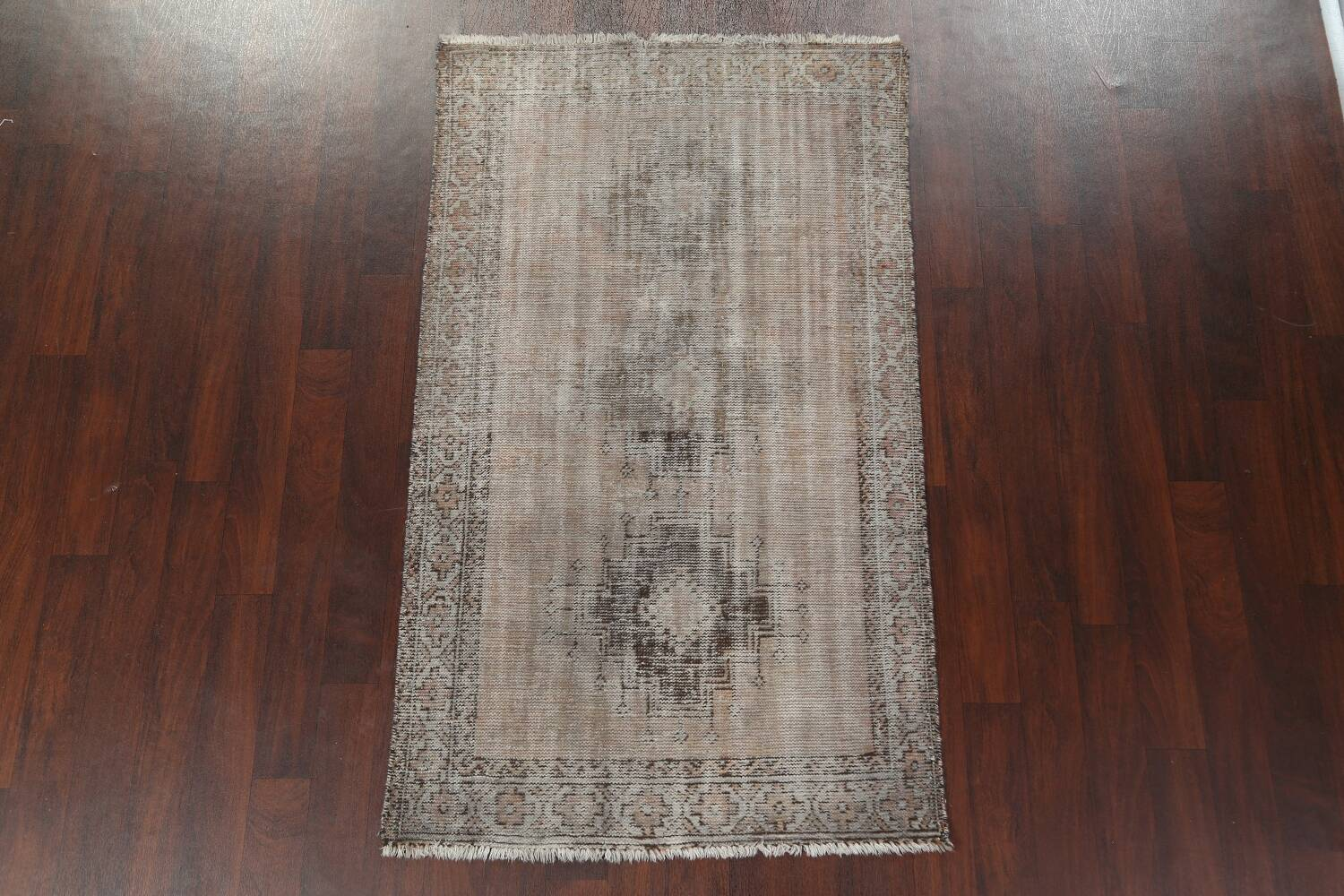 Antique Distressed Balouch Persian Area Rug 4x7 image 3