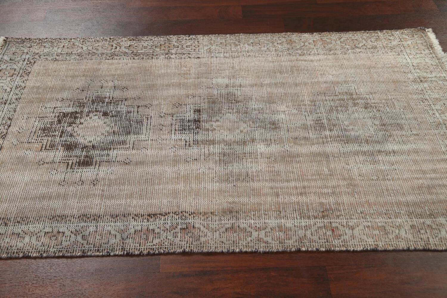 Antique Distressed Balouch Persian Area Rug 4x7 image 12