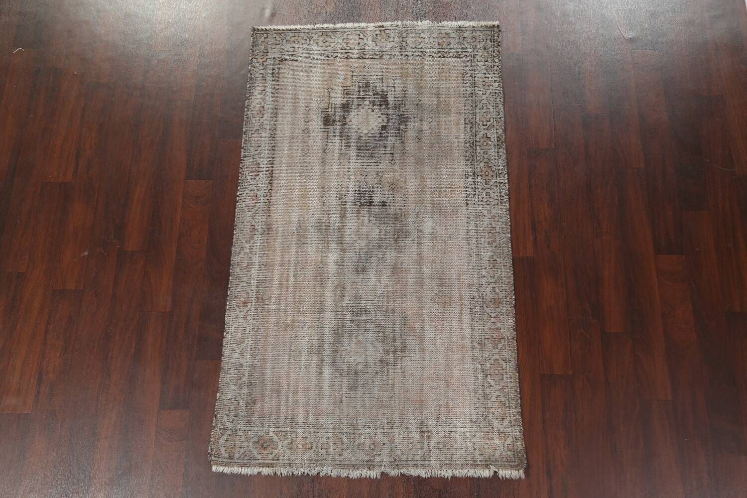 Antique Distressed Balouch Persian Area Rug 4x7 image 13