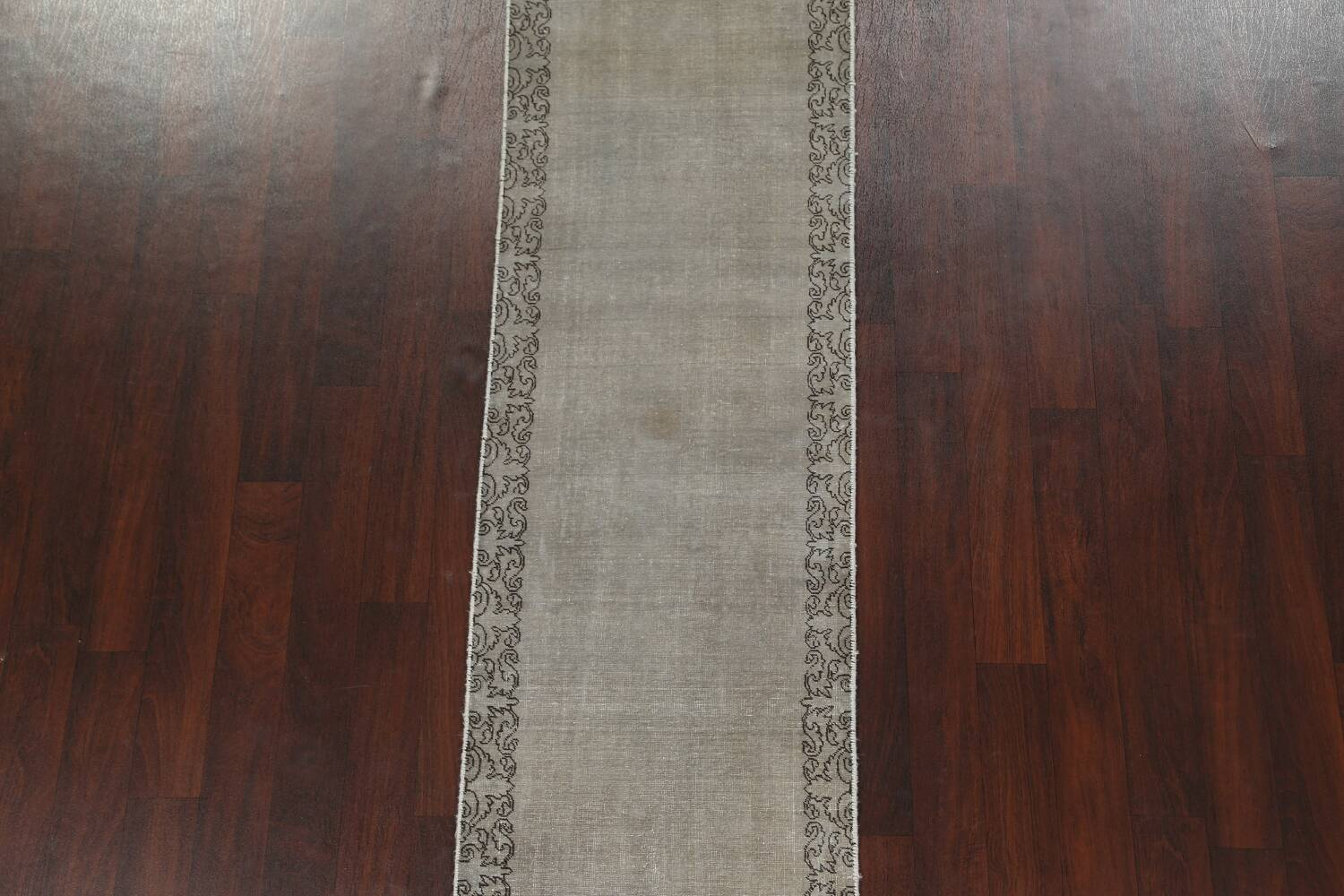 Distressed Over-Dyed Tabriz Persian Runner Rug 2x9 image 4