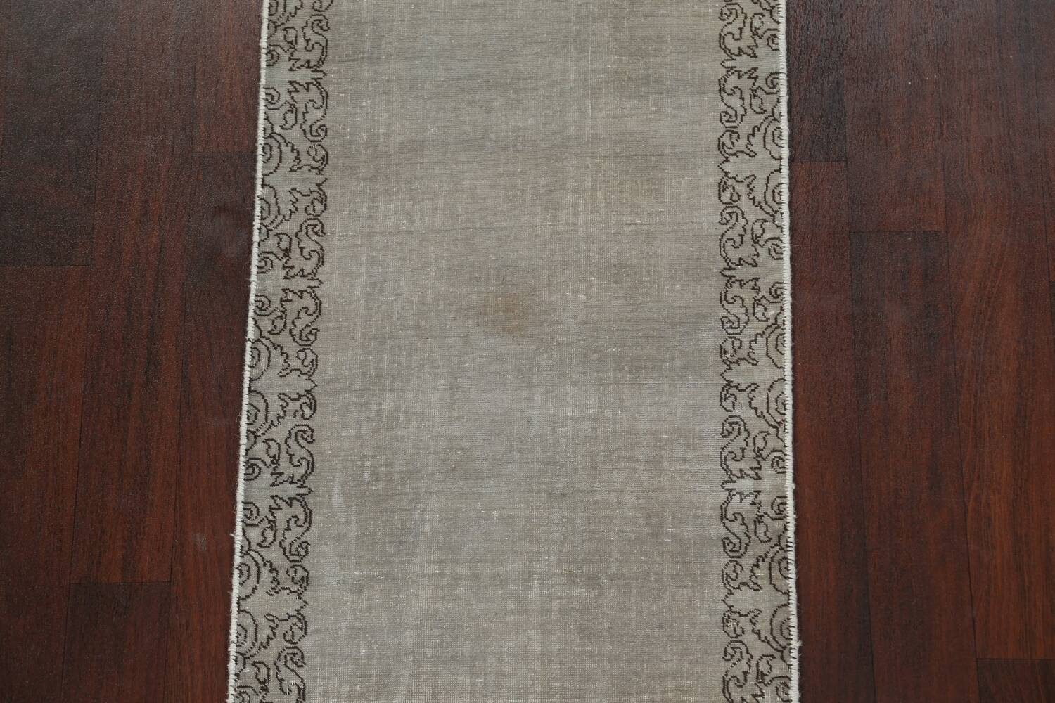 Distressed Over-Dyed Tabriz Persian Runner Rug 2x9 image 5
